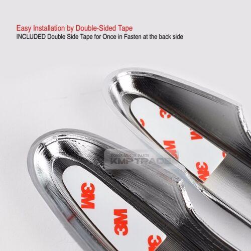 Chrome Carbon Door Catch Molding Trim Garnish Cover for HYUNDAI 2006-12 Santa Fe