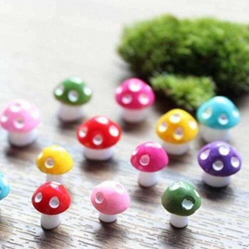20x Mushroom Fairy Garden Miniatures Accessories Resin Craft Micro Landscape USA