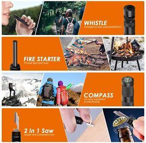 THINKWORK Emergency Survival Kit Fishing, Safety, Fire Starter...