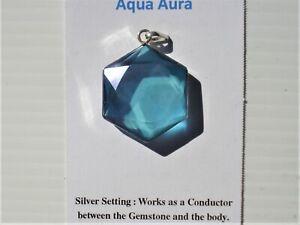Aqua-Aura-Quartz-6-Pointed-Star-of-David-Pendant-Recharge-Regenerate-24-K-Gold