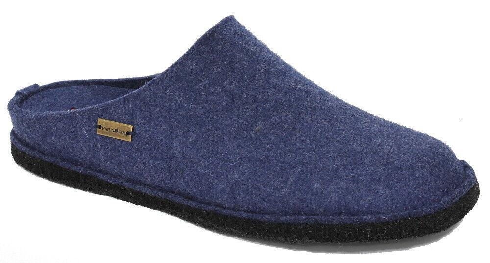 Haflinger Filztoffel FLAIR SOFT Hausschuhe jeans blue Wollfilz 311010-72 NEU
