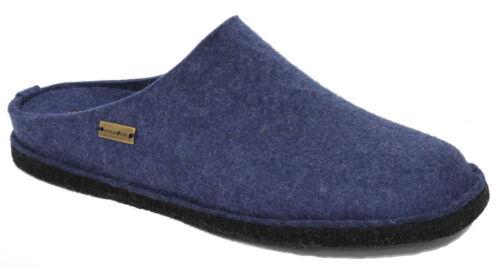 Haflinger Filztoffel FLAIR SOFT Hausschuhe jeans blau Wollfilz 311010-72 NEU