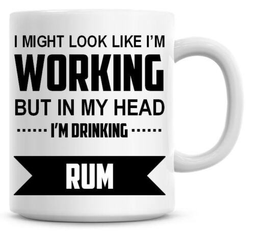I/'M DRINKING RUM Novelty//Funny Printed Coffee//Tea Mug Ideal Gift//Present 469