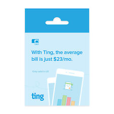 Ting GSM SIM Card – Average Monthly Bill Is No Contract Universal Sim.