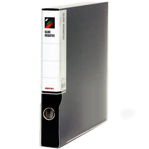 Matin 3-Ring Binder File Box Films Archival Film Sheets Sleeves Storage (Black)