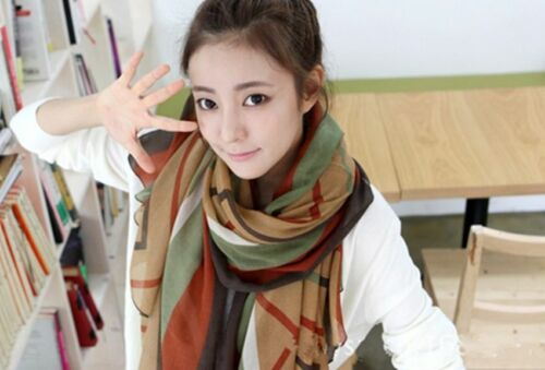 Wave Pattern Lady Women Fashion Stylish Soft Scarf Shawl Wrap Headscarf Stole