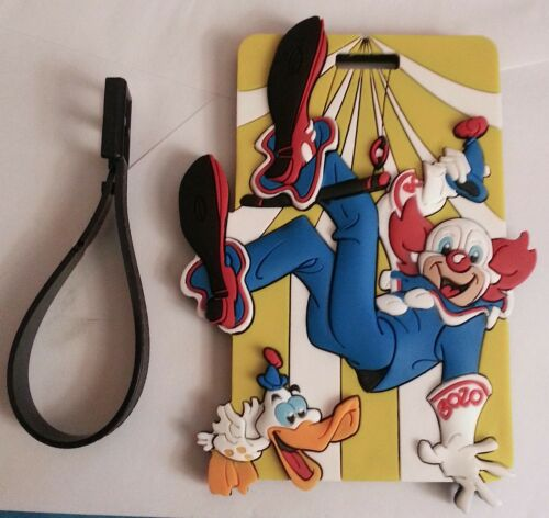 BOZO 3-D Rubber LUGGAGE BAG TAG