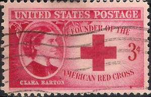 USA. 1948. 3 Cents. Founder of the American Red Cross (Used)
