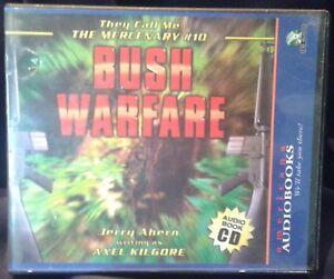 Used-Audio-Book-034-Bush-Warfare-034-The-Mercenary-10-by-Jerry-Ahern-3-CDs-Abridged