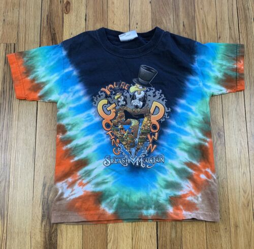 Vintage 90's Disney T-Shirt Tie Dye Splash Mountai