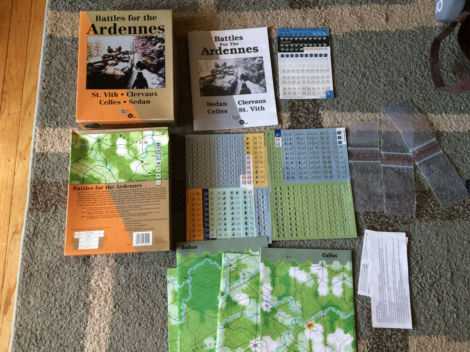 Battles for the Ardennes Decisions Games SPI (1994) Board Game