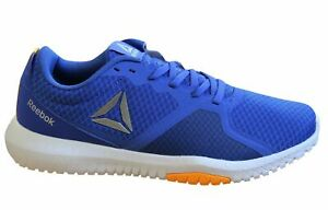 Reebok-Flexagon-Force-Baskets-Homme-Bleu-Lacets-Formation-Chaussures-CN6528