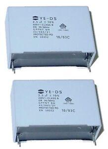 2-x-MKP-Kondensator-2-5-F-400Volt-RM-40mm-Teapo