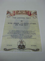 Handfasting Wedding Marriage Certificate Ivory & White No.5