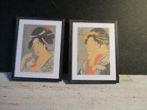 2 Maison De Poupées Miniature Japonais Imprime W1-afficher Le Titre D'origine Luxuriant In Design
