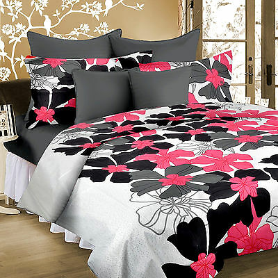 Welhouse Pure Cotton Beautiful 1 Double Bedsheet with 2 Pillow Cover-MTR-025