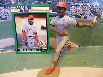 LOUIS CARDINALS Kenner Starting Lineup Card ST 1989  PEDRO GUERRERO