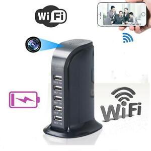 1080P WIFI Socket Charger Spy1· Hidden Camera Video Recorder 5 USB Nanny Cam DVR