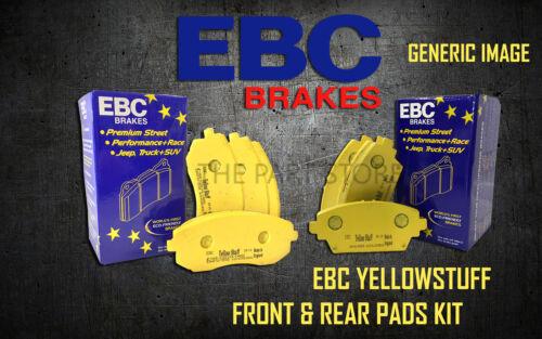 NEW EBC YELLOWSTUFF FRONT AND REAR BRAKE PADS KIT PERFORMANCE PADS PADKIT2228