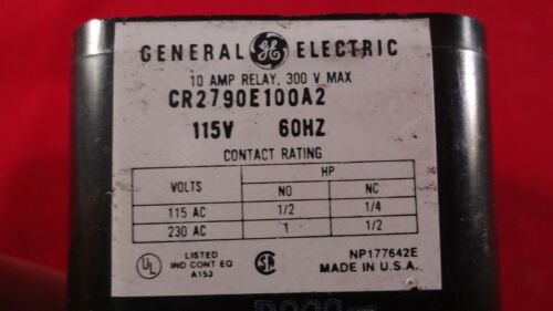 GE General Electric Control Relay CR2790E100A2