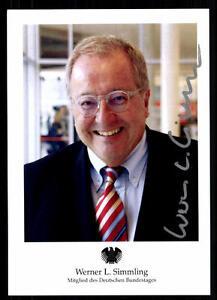 In Verarbeitung Werner Simmling Autogrammkarte Original Signiert ## 38302 Exquisite