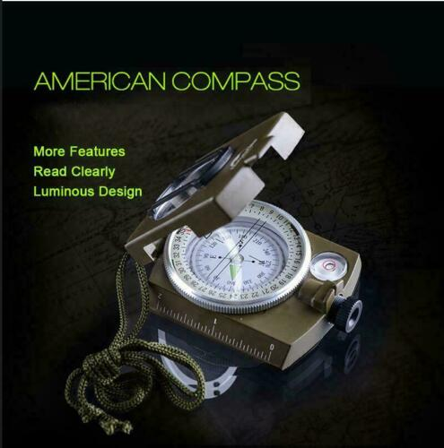 Outdoor Military Wild Survival Luminous UK Compass Handheld Pointer For Camping