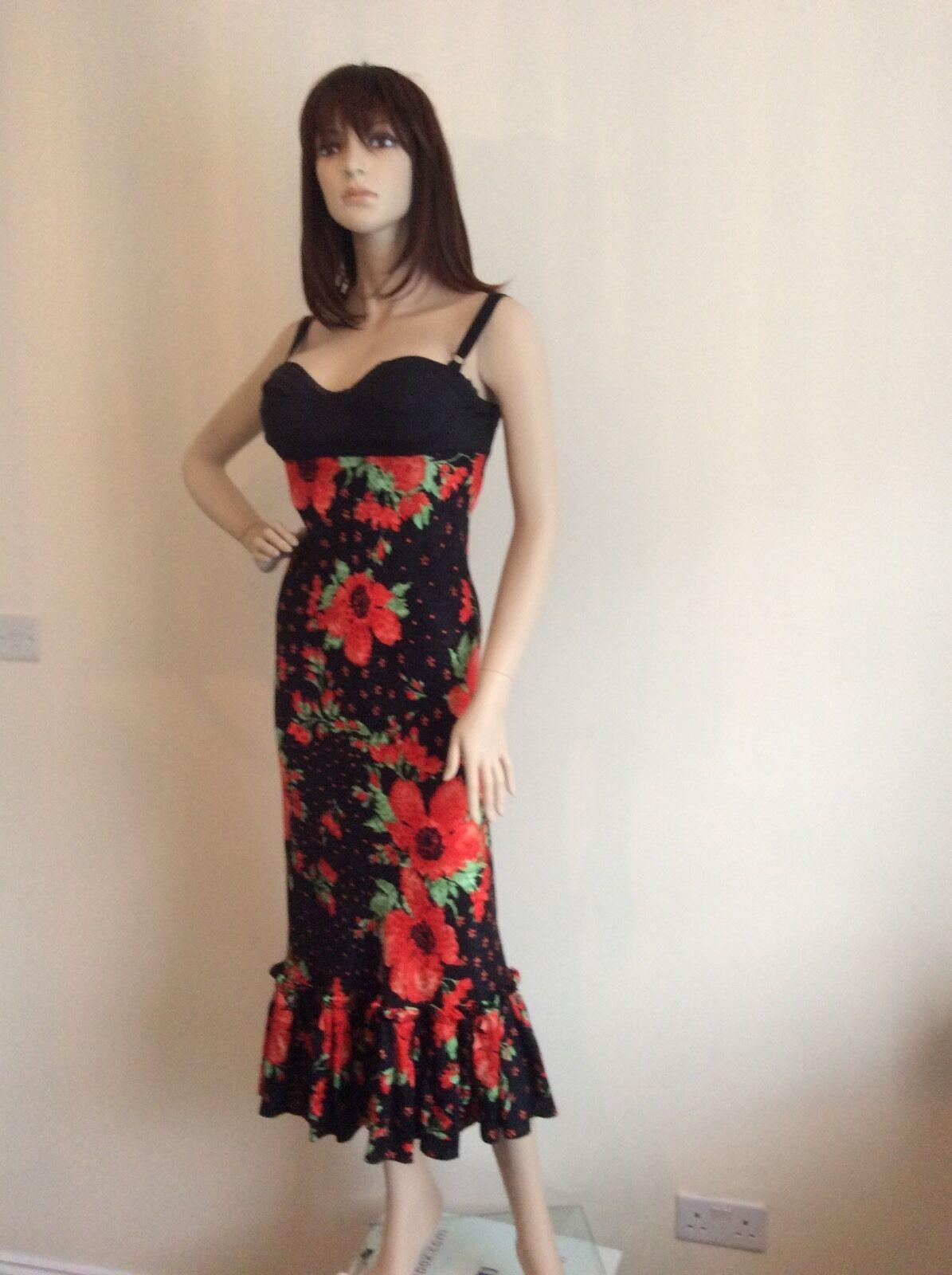 D &G Volupuos Silk Dress Storlek It42