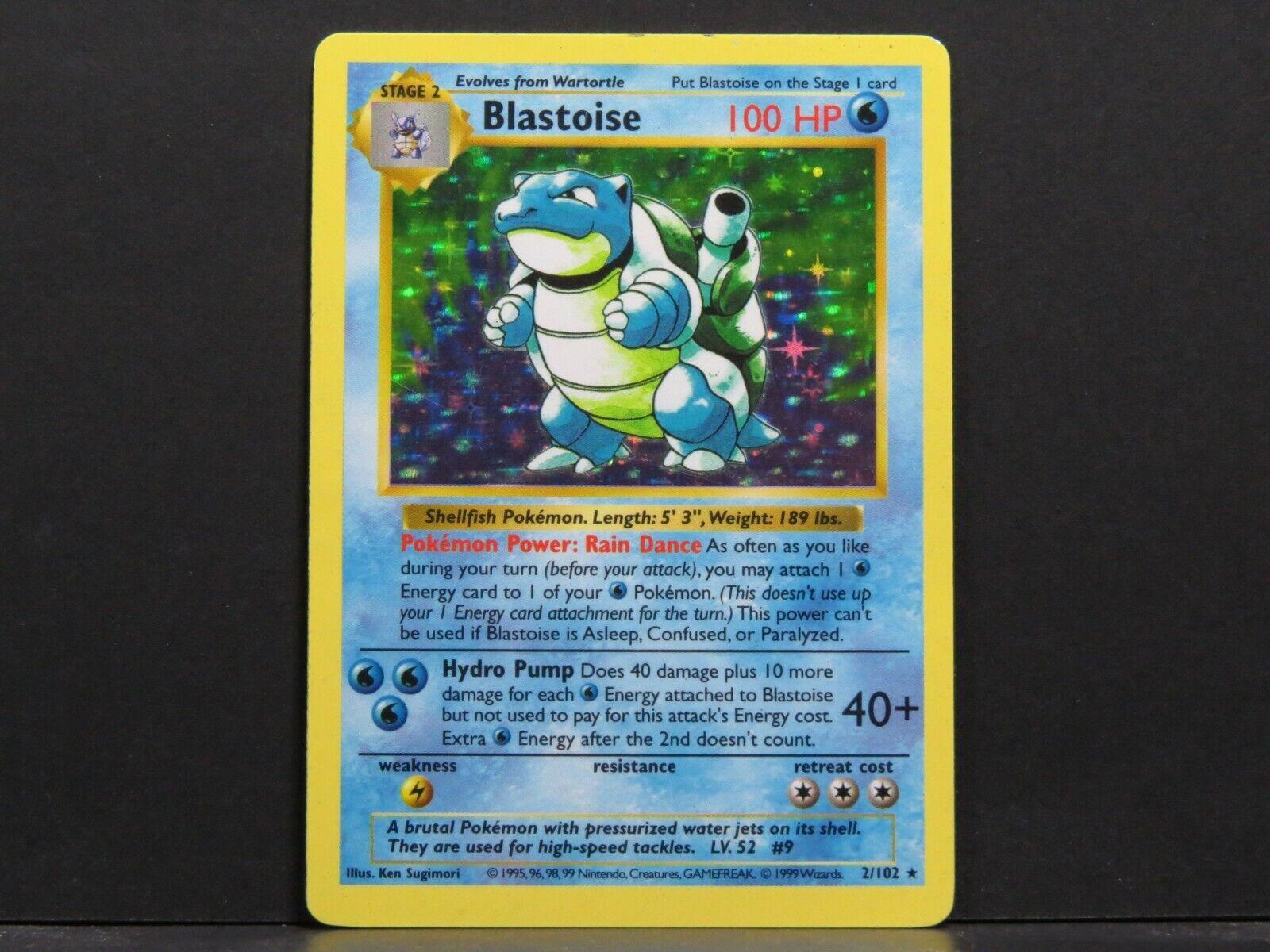 シャドウレスBlastoise 2 / 102 -ベースセットポケモンカード(ミントの近く)