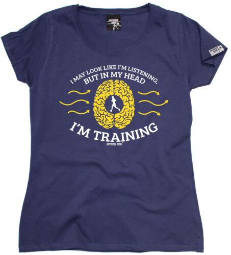 Può apparire come sto ascoltando.. la formazione da Donna T-Shirt Regalo di compleanno in esecuzione