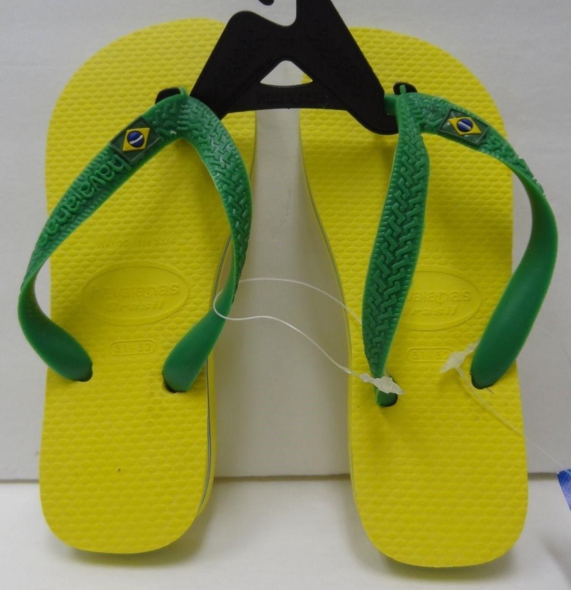Kids Havaianas Kids Brasil Flip Flops Turquoise Cirtus Yellow Kids