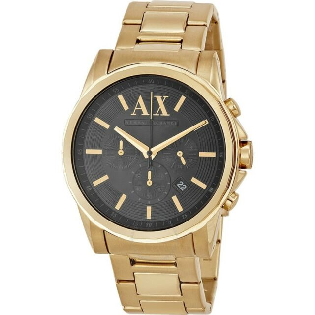 f195468da87 AX Armani Exchange Watch Men s Gold Ion Plated Stainless Steel Bracelet  45mm AX2095