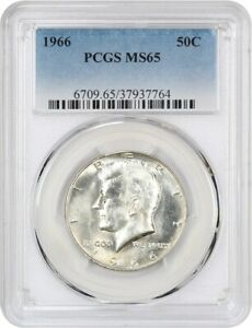 1966 50c Silver Kennedy Half Dollar PCGS MS 64 Business Strike
