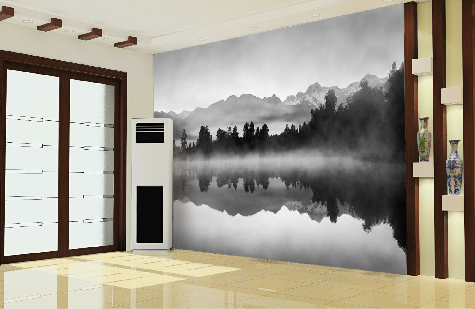 3D Ink Landscape 672 Wall Paper Wall Print Decal Wall Deco Indoor Wall Murals