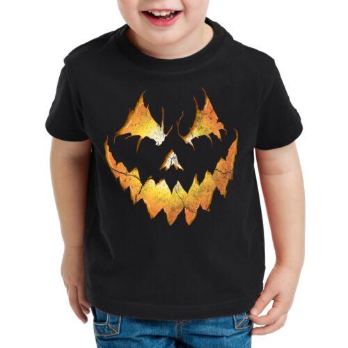 Halloween Pumpkin Kinder T-Shirt Kürbiskopf Horror Fasching kürbis kostüm kopf
