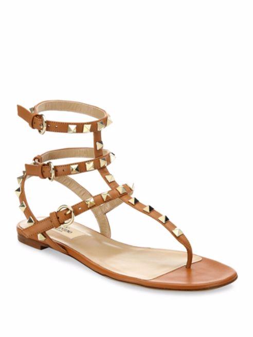 Valentino Rockstud Leather Gladiator Sandal, NIB