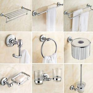 Polished Chrome Bathroom Hardware Set, Bathroom Accessories Towel Racks