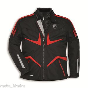 Ducati-Giacca-Tessuto-Tour-V2-in-Motociclista-Nero-Rosso-Nuovo