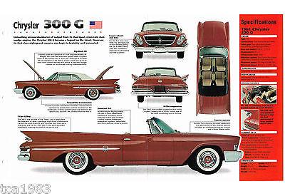 Broschüre/prospekt '61 MüHsam 1961 Chrysler 300 G/300g Spezial Folie