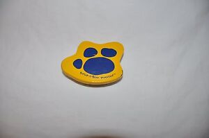 Build a Bear Yellow with Blue Paw Print Wood Brush