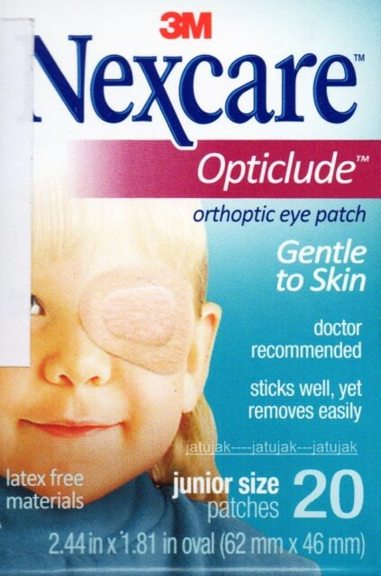 Nexcare 3M Opticlude Eye Patch Junior Size 1 Boxes 20 Pcs Orthoptic Exp 2021