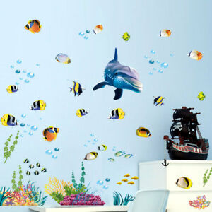 Under The Sea Underwater Wall Stickers Fish Dolphin Decal Kids