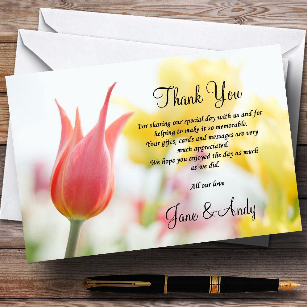 Dainty Rose et et et Jaune Floral Mariage Personnalisé cartes remercieHommes t 09fe6b