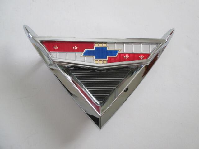 61 Chev Boot Badge Assembly 1961 Chevrolet Impala Belair Emblem
