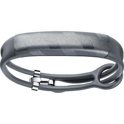 JAWBONE UP2 Bluetooth Activity Tracker Gunmetal Hex Rope Rechargeable Battery