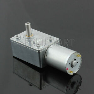 Reversible High torque Turbo worm Geared motor DC motor GW370 12V 230pm