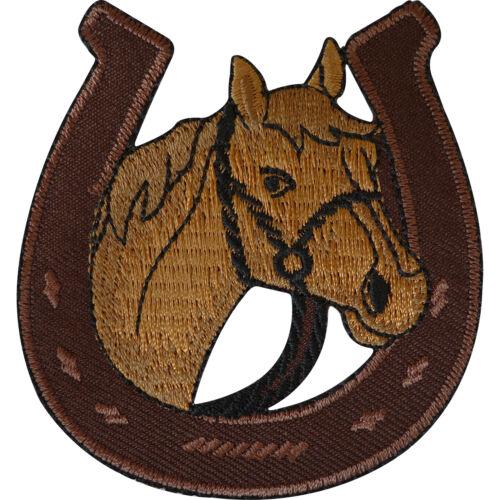 Sew On Clothes Jacket Pony Horse Riding Embroidered Badge Horseshoe Patch Iron