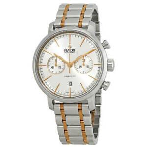 Rado-Men-039-s-Watch-Diamaster-Chronograph-Silver-Tone-Dial-Bracelet-R14070103