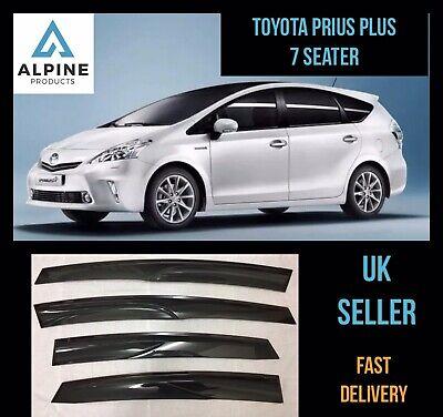 Toyota Prius Plus 7 Seater 2012-2015 Window Visor Deflector Sun Rain Guard Smoke