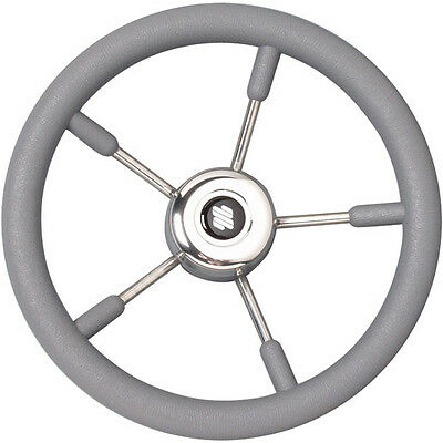 Boat stainless//s Steering Wheel 350mm Mechanical /& Hydraulic Helm Standard 3//4