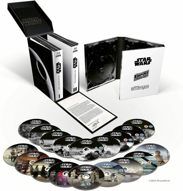 STAR WARS The SKYWALKER SAGA Complete Collection 9 Films 18 Disc BLU RAY Boxset